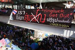 BANGKOK - 13 JANVIER 2014 : Protestataires contre le gouvernement ral Photographie stock