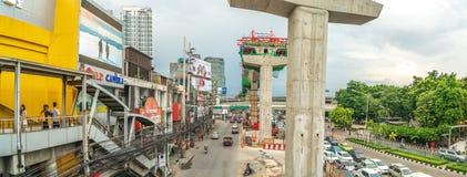 Bangkok - Juli 9: Panoramamening van het Bouwproject van B Stock Foto's