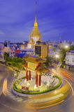 BANGKOK - JULY 15: Gate of Chinatown on July 15, 2014 in Bangkok, Thailand. Arch marks the beginning of famous Yaowarat Road, hear Stock Image