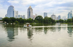 BANGKOK - july 3: Lake view of Lumpini Park Royalty Free Stock Photo
