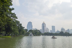 BANGKOK - july 3: Lake view of Lumpini Park Stock Photos