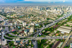 BANGKOK - JUNE 18, 2014  Bangkok is the capital and the most populous city of Thailand. One of the most important transportation is highway system in this Stock Photo