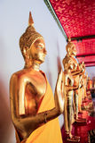 BANGKOK - June 13. Buddha statues in the Wat Pho temple on June Stock Photo
