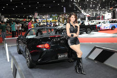 BANGKOK - June 24: Mazda MX-5 car Unidentified model on display Royalty Free Stock Images