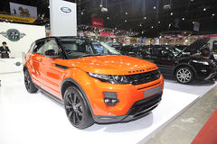 BANGKOK - June 24 : Range Rover Evoque car  on display at Bangko Royalty Free Stock Photos