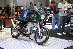 BANGKOK - June 24 :Thruxton sr motocycle  car on display at Bang Stock Images