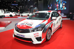 BANGKOK - June 24 : Toyota Altis with Modify set car on display Royalty Free Stock Photos