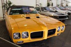 BANGKOK - JUNI 22 Pontiac GTO de Rechter 1970 op vertoning bij 3 Royalty-vrije Stock Foto