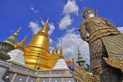 bangkok kaew phra Thailand wat Fotografia Stock