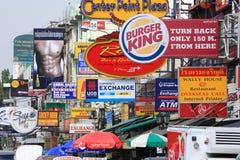 bangkok khaoväg san thailand Arkivfoton