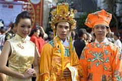 bangkok kinesiskt nytt år Arkivfoto