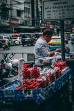 Bangkok 12 11 18: Kineskvarter arkivfoto