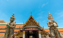Bangkok kings palace ancient temple thailand Stock Images