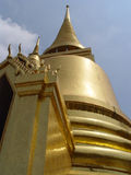 bangkok klocka guld- thailand Royaltyfria Foton
