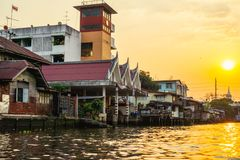 Bangkok Klongs Photo libre de droits