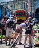 Bangkok kolei rynek obrazy royalty free