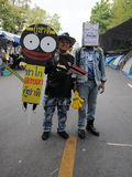 bangkok kolor żółty protestacyjny koszulowy Zdjęcia Royalty Free
