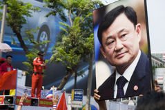 bangkok koszula protestacyjna czerwona Fotografia Stock