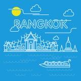 Bangkok krajobraz ilustracja wektor