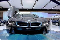 Bangkok, Kwiecień - 2: BMW serii I8 innowaci samochód Zdjęcia Stock