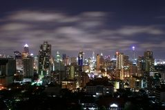 Bangkok la nuit Photos stock