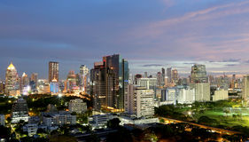 Bangkok la nuit Image stock