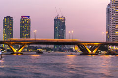 Bangkok la nuit Images libres de droits