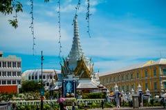 Bangkok, la Tailandia 22 gennaio, palazzo 2560Grand e keaw di phra di Wat Fotografia Stock