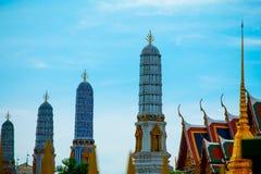 Bangkok, la Tailandia 22 gennaio, palazzo 2560Grand e keaw di phra di Wat Fotografia Stock Libera da Diritti