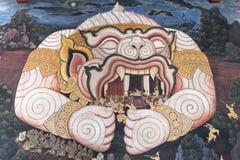 BANGKOK LA THAÏLANDE 25 SEPTEMBRE : Peinture de Hanuman sur le mur à W Photo libre de droits