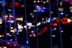 bangkok lampa nigh Arkivfoton