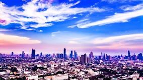 Bangkok-Landschaftsgeschäftsgebäude Lizenzfreie Stockfotografie