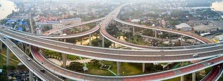 Bangkok large road interchange Royalty Free Stock Image