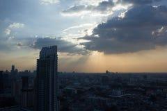Bangkok lightbeam Royalty Free Stock Image