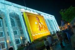 Bangkok ljus av lyckafestivalen Royaltyfri Foto