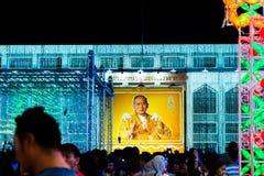 Bangkok ljus av lyckafestivalen Royaltyfria Bilder