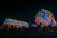 Bangkok ljus av lyckafestivalen Royaltyfria Foton