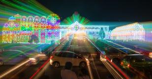Bangkok ljus av lyckafestivalen Royaltyfri Bild