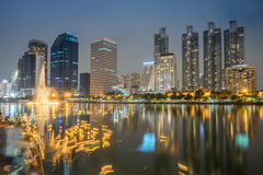 Bangkok in Loy Krathong Stock Afbeeldingen