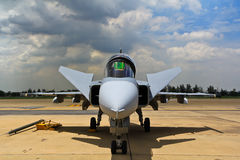 BANGKOK - 2 LUGLIO: JAS 39 Gripen Fotografie Stock