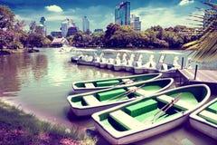 Bangkok lumphini park Stock Images
