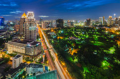 Bangkok and Lumpini park Royalty Free Stock Images