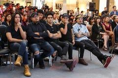 BANGKOK, LUTY - 19 2014: MTV Wychodzi konferencję prasową trzymającą w Ce Zdjęcie Stock