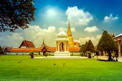 Bangkok luxurious royal palace and garden, Royalty Free Stock Photography