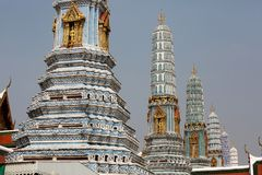 Bangkok luxurious royal palace in Thailand. Royalty Free Stock Photos