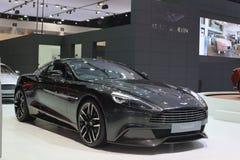 Bangkok - 31. März: Erscheinung 007 Astons Martin besiegen auf schwarzem Auto an der 37. internationalen Thailand Autoausstellung Stockbilder
