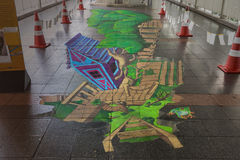 Lebendes Kunst-Festival 2013 @ Ratchaprasong Lizenzfreies Stockbild