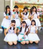 Een niet geïdentificeerde cosplay Band van het Meisje van de Dekking stelt. Royalty-vrije Stock Fotografie
