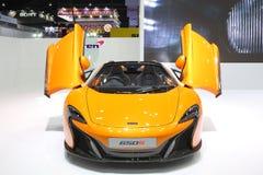 Bangkok - Maart 31: Mckaren op oranje auto bij de Internationale Thailand de Motorshow 2016 van 37ste Bangkok op 26 Maart, 2016 i Royalty-vrije Stock Fotografie