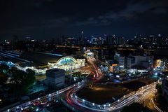 BANGKOK - 24 mai : Hua Lamphong Station, hub principal ferroviaire c de train Photographie stock libre de droits